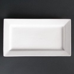 Lot de 2 assiettes rectangulaires à bord large Lumina 310(L) x 175(l)mm LUMINA FINE CHINA Collection Lumina