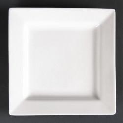 Lot de 6 assiettes carrées Lumina 170mm LUMINA FINE CHINA Collection Lumina