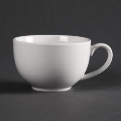 Lot de 12 tasses 230 ml élégantes - porcelaine OLYMPIA Collection Whiteware