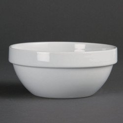 Bol à céréales empilable Olympia Blanc 140 mm 540 ml (boîte de 12) OLYMPIA Bols