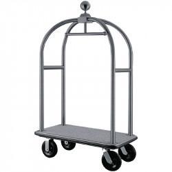 Chariot à bagages en acier inoxydable brossé, Bolero BOLERO Chariots à bagages