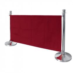 Barrière en toile Bolero rouge BOLERO Les cordons d'accueil Bolero