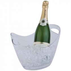 Seau à vin / champagne 2 bouteilles, acrylique transparent, APS APS Seaux à glace