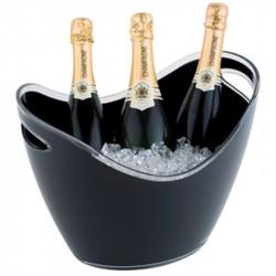 Seau à vin/champagne 3 bouteilles acrylique noir APS Attente Alex