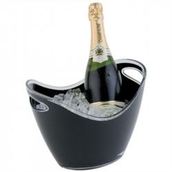 Seau à vin / champagne 2 bouteilles, acrylique noir, APS APS Seaux à glace