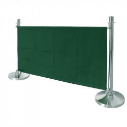 Barrière en toile Bolero verte BOLERO Les cordons d'accueil Bolero
