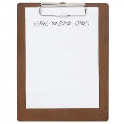 Wooden Menu Clipboard A5 245x185mm OLYMPIA Cartes et menus