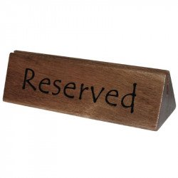 Wooden Reserved Sign / Menu Holder (Pack 10) OLYMPIA Cartes et menus