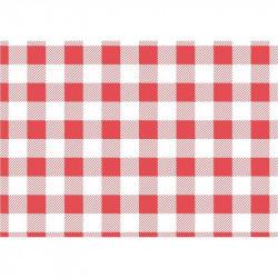200 Papiers ingraissables vichy rouge - 250x250mm  Snack & Forains