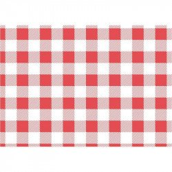 200 Papiers ingraissables vichy rouge - 250x250mm 190x310mm EQUIPEMENT DIRECT Snack & Forains