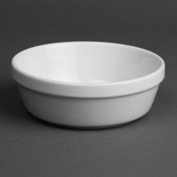 Lot de 6 plats à gratin Ø 137 x H 47 mm - rond - porcelaine OLYMPIA Collection Whiteware