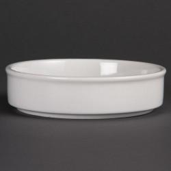 Plat empilable en porcelaine blanche - 134mm (lot de 6) OLYMPIA Plats