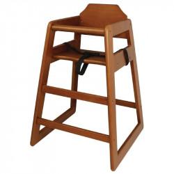 Chaise haute en bois foncé, Bolero BOLERO Pour les enfants