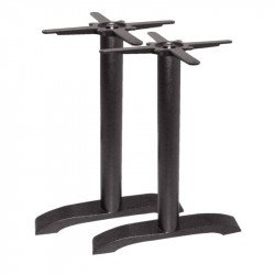 Pied de table rond, en fonte, noir, Bolero BOLERO Pieds de tables