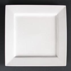 Lot de 4 assiettes carrées Lumina 265mm LUMINA FINE CHINA Collection Lumina