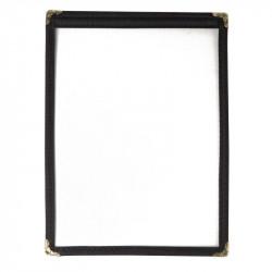 Porte-menu A5 noir 2 pages EQUIPEMENT DIRECT Cartes et menus
