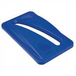 Couvercle bleu, Slim Jim - Rubbermaid RUBBERMAID Poubelles