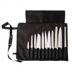 Etui noir à couteaux en tissu 60(L) x 48(l)cm DICK Sacoche et mallettes à couteaux