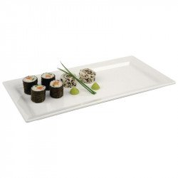 Plateau rectangulaire en mélamine Pure blanc 355x180mm APS Plats et présentoirs