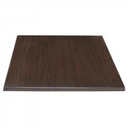 Plateau de table carré 600 x 600 mm, marron foncé, Bolero BOLERO Plateaux de table