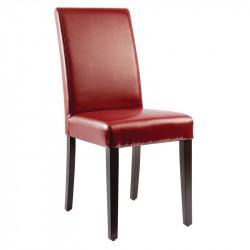 Lot de 2 Chaises en simili cuir, rouge, Bolero BOLERO Chaises