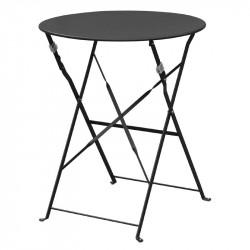 Table de terrasse ronde Ø 600 mm, en acier, noir, Bolero BOLERO Tables