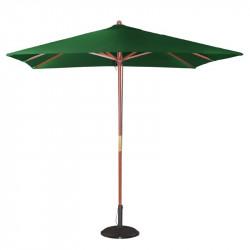 Parasol carre Ø 2500 mm à poulie, vert, Bolero BOLERO Parasols