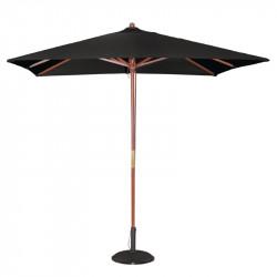 Parasol carre Ø 2500 mm à poulie, noir, Bolero BOLERO Parasols