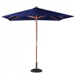Parasol carre Ø 2500 mm à poulie, bleu marine, Bolero BOLERO Parasols