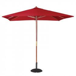 Parasol carre Ø 2500 mm à poulie, rouge, Bolero BOLERO Parasols