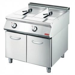 Friteuse électrique 2x 10 litres sur placard GASTRO M Friteuses sur meuble