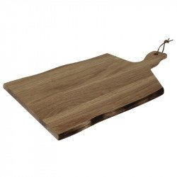Grande planche en acacia bords ondulés Olympia 355x250x15mm manche 85mm OLYMPIA Planches à découper