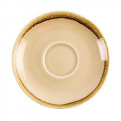 Lot de 6 soucoupes 'sable' Kiln Ø140mm OLYMPIA Collection Kiln