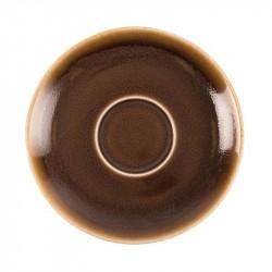 Lot de 6 soucoupes 'écorce' Kiln Ø140mm OLYMPIA Collection Kiln