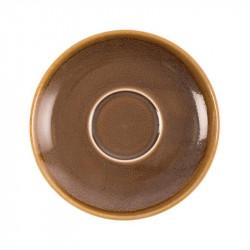 Lot de 6 soucoupes 'écorce' Kiln Ø160mm OLYMPIA Collection Kiln