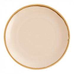 Lot de 4 assiettes Ø280mm plates rondes 'sable' Kiln OLYMPIA Collection Kiln