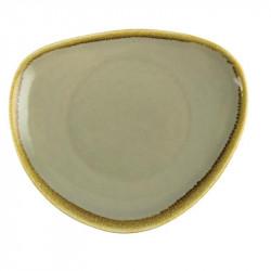 Lot de 6 assiettes Ø230mm triangulaires 'mousse' Kiln OLYMPIA Collection Kiln