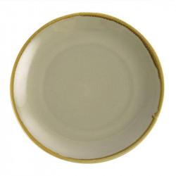 Lot de 4 assiettes Ø280mm plates rondes 'mousse' Kiln OLYMPIA Collection Kiln