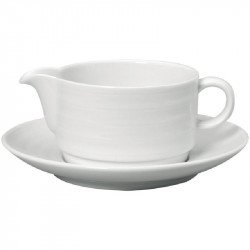 Saucière avec soucoupe 280ml Intenzzo blanches INTENZZO Coupes, coupelles & ramequins