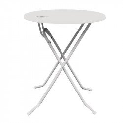 Table ronde haute Ø 700 mm, pliante, blanc, 'DUBAI' GEEN MERK Tables