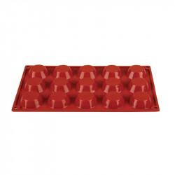 Plaque 15 tartelettes Pavoni Formaflex silicone PAVONI Moules à pâtisserie souples