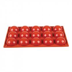 Plaque 15 demi-sphères Pavoni Formaflex silicone  PAVONI Moules à pâtisserie souples