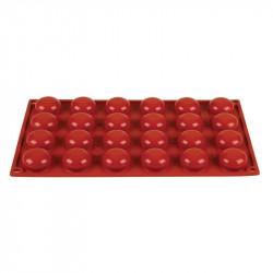 Plaque 24 pomponnettes Pavoni Formaflex silicone PAVONI Moules à pâtisserie souples