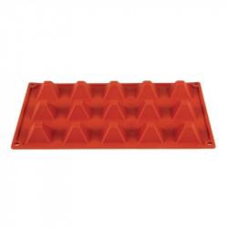 Plaque 15 pyramides Pavoni Formaflex silicone PAVONI Moules à pâtisserie souples