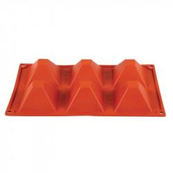 Plaque 6 pyramides Pavoni Formaflex silicone PAVONI Moules à pâtisserie souples