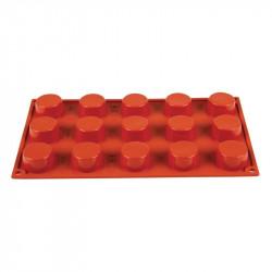 Plaque 15 petits-fours Pavoni Formaflex silicone PAVONI Moules à pâtisserie souples