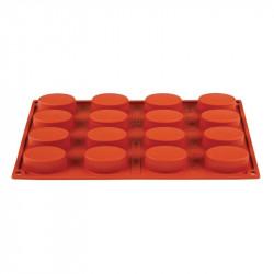 Plaque 16 ovales Pavoni Formaflex silicone PAVONI Moules à pâtisserie souples