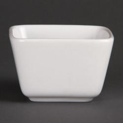 Olympia blanc, mini plats 75x75x50 mm (Box 12) OLYMPIA Plats