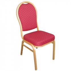 Lot de 4 Chaises de banquet à dossier arrondi, rouge, Bolero BOLERO Chaises