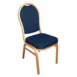 Lot de 4 Chaises de banquet à dossier arrondi, bleu, Bolero BOLERO Chaises